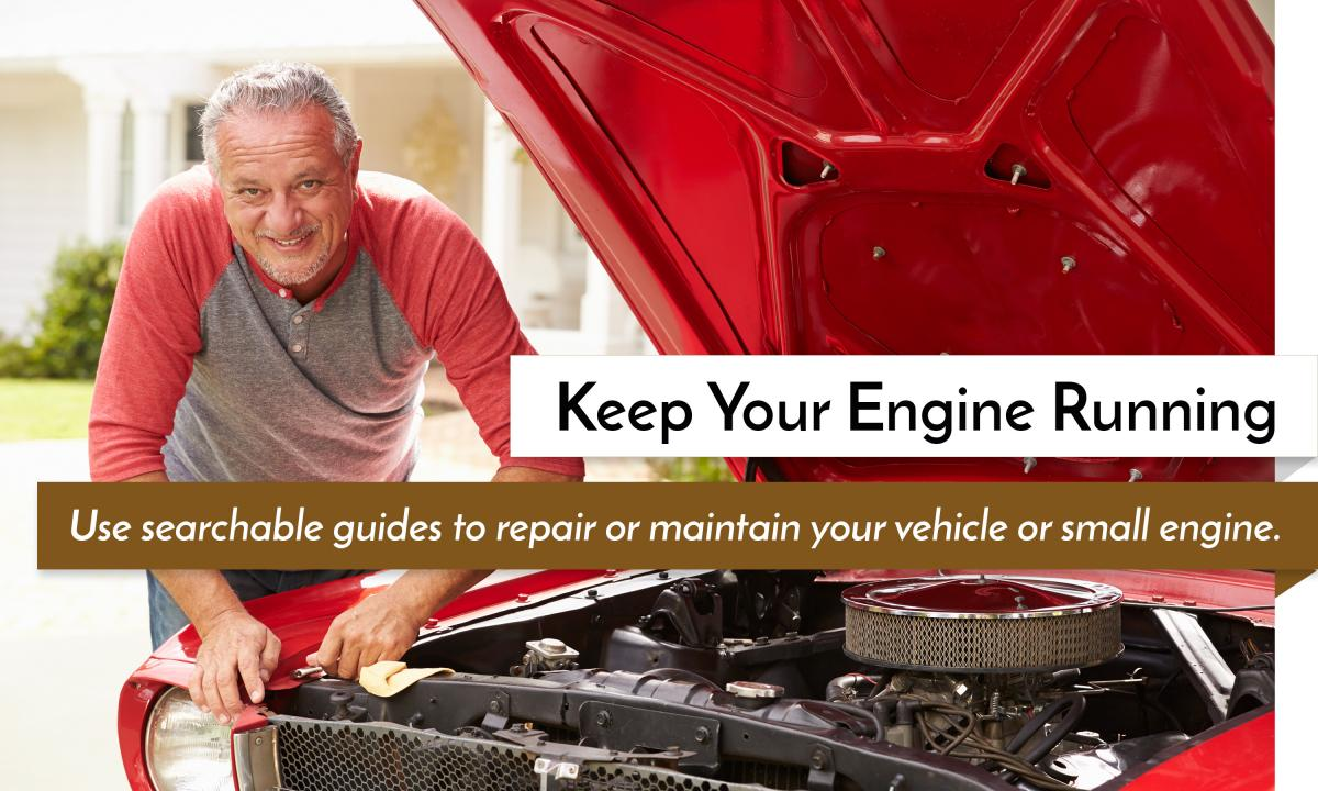 Car and small engine repair resources.